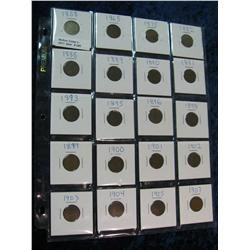 245. Lot of 20 different Flying Eagle & Indian Cents 1858-1907