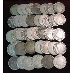 284. Roll of (40) Better Circulated Liberty Nickels.