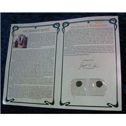 286. Pair of Ancient Roman Widow's Mites with Certificate