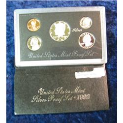 292. 1992 S U.S. Silver Proof Set. Original as issued.