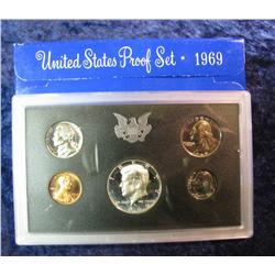 293. 1969 S U.S. Silver Proof Set. Original as issued.