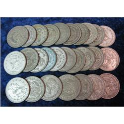362. Large Group of (27) 1957-67 Mexico Silver Pesos.