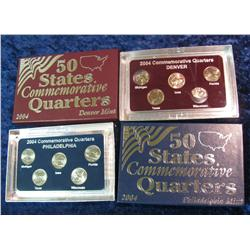 393. 2004 P & D Quarter Sets in special display cases.