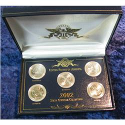400. 2002 Five-Piece State Quarter Collection in special case.