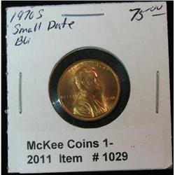 1029. 1970 S Small Date Lincoln Cent. Brilliant Unc. Rare variety.