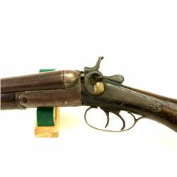 SH & Co. 12 ga. SXS hammer shotgun with walnut