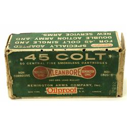 Remington UMC 45 Colt box of ammo