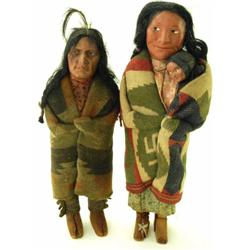 Collection of 2 Skookum dolls