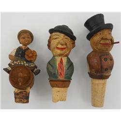 3 ANRI Wooden Bottle Stoppers