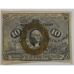 1863 - 10 Cent Fractional Currency