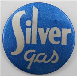 Silver Gas Pinback Button