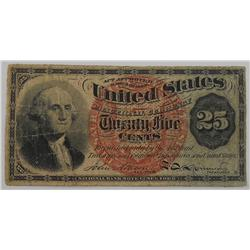 1863 - 25 Cent Fractional Currency