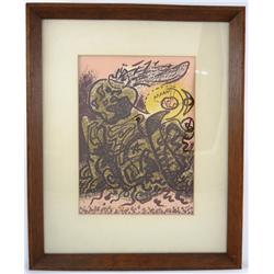 "Andre Masson Original Lithograph ""Caliban"""