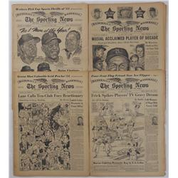 "Four Issues of ""The Sporting News"""