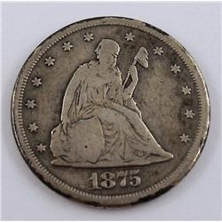 1875 CC - US Twenty Cent Piece