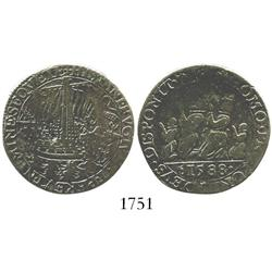 Dordrecht, Netherlands, copper jeton, 1588, Spanish Armada commemorative.