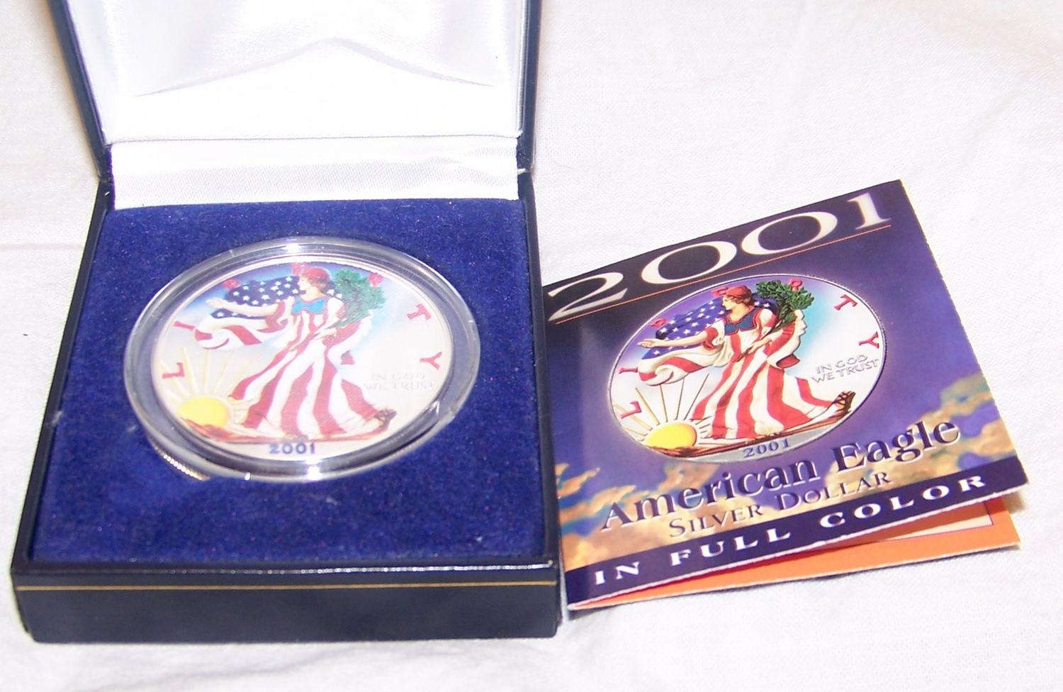 American Eagle Silver Dollar In Full Color American
