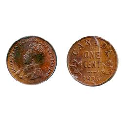 1926.  ICCS Mint State-62.  Lustrous Brown.  Traces of luster.