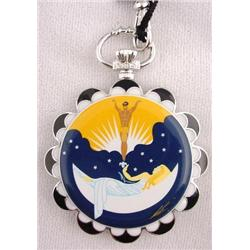 Unusual Deco Art to Wear Erte Pocket Watch