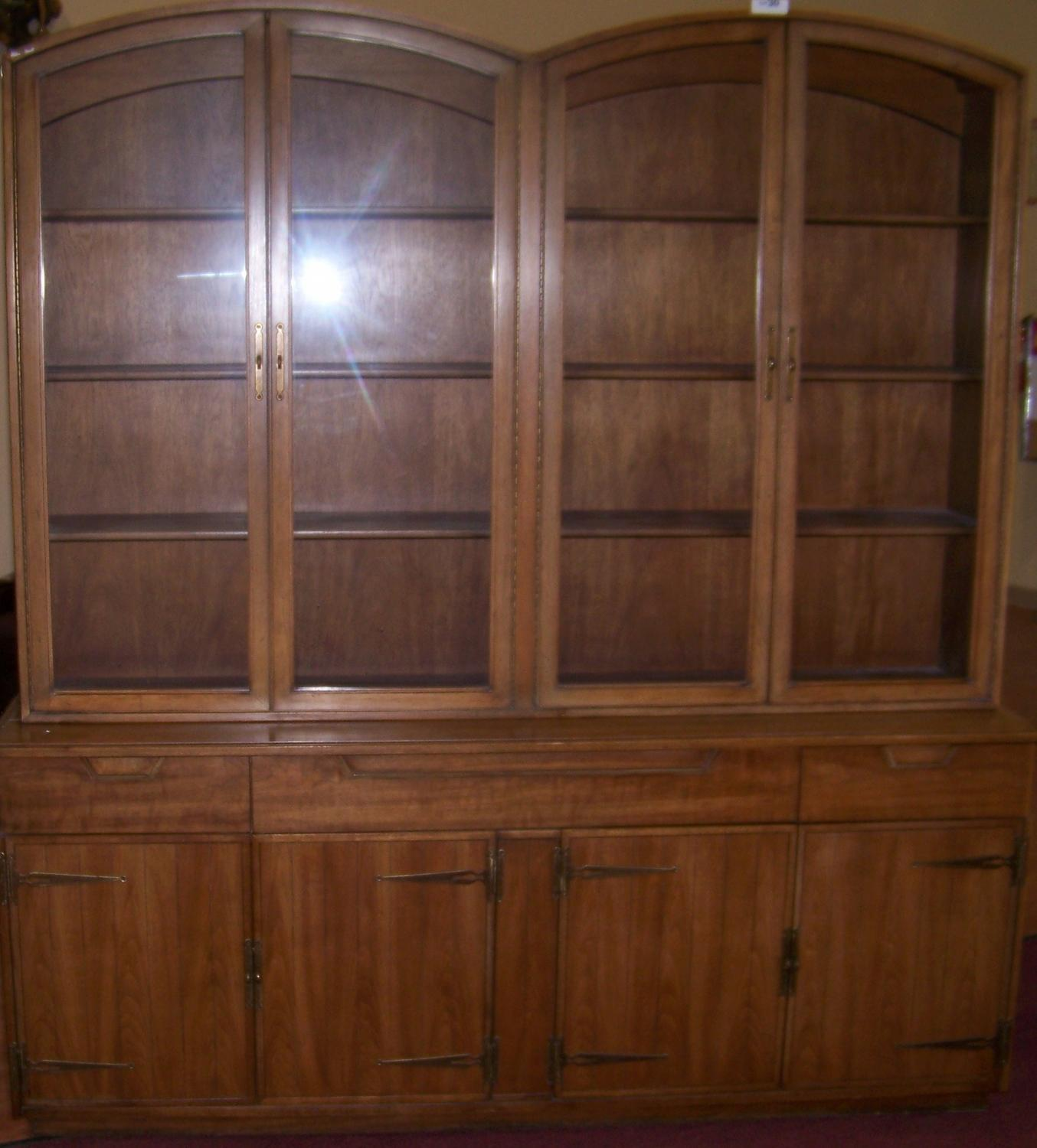 Vintage Wood U0026 Glass Display Cabinet. Loading Zoom