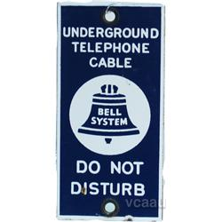 """Bell System """"Underground Telephone Cable"""" Porcelain"""