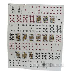 "Uncut Sheet Of ""Dunes"" Casino Playing Cards"