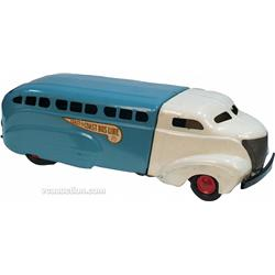 "Early Metal ""Coast To Coast Bus Line"" Toy Bus c1930's"