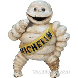 Vintage Cast-Iron Michelin Man Figural Statue