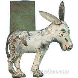 Die-Cut Metal Donkey Figure/Trail Marker Sign