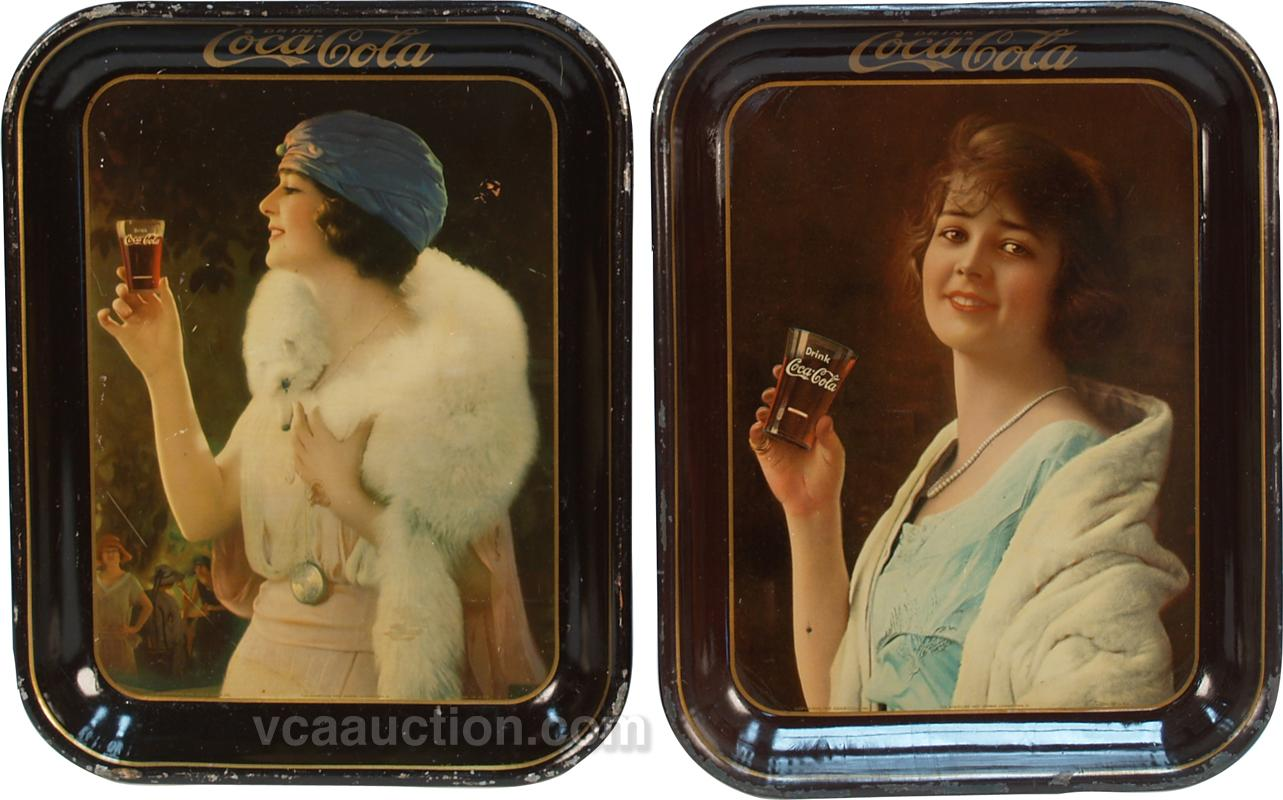 coca cola trays antique