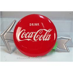 Vintage Drink Coca Cola Tin Disc Button Sign
