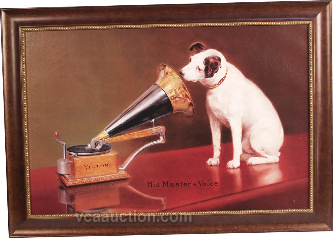 "Victor Phonograph Player ""His Masters Voice"" Print"