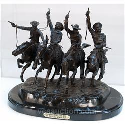 Coming Thru The Rye  Frederic Remington Cowboy Figurin