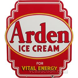 Arden Ice Cream Double Sided Die-Cut Porcelain Sign