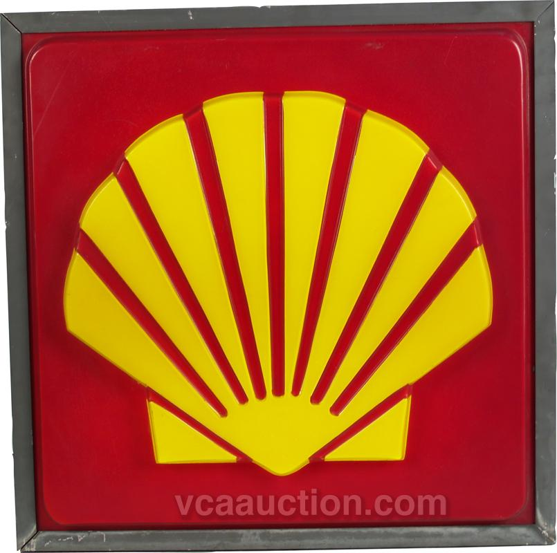 metal can amp plastic lightup shell gas station sign
