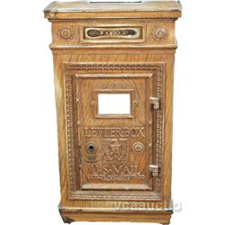 Early Fancy Cast-Iron US Mail  Letters  Mail Box