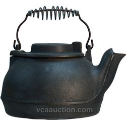Early Cast-Iron Tea Kettle