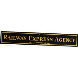 Railway Express Agency Inc.  Porcelain Sign