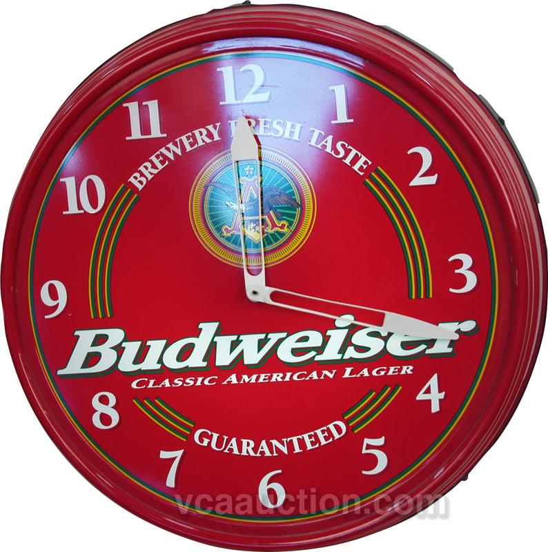 Plastic wall mount budweiser beer light up clock aloadofball Image collections