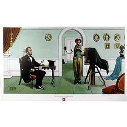 Norman Rockwell, Abraham Lincoln, Lithograph Poster