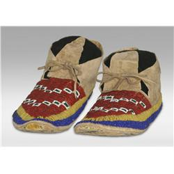 Sioux Beaded Moccasins, Early 20th century