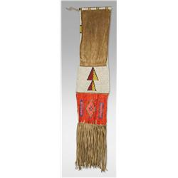 Northern Plains Beaded and Quilled Pipe Bag, 19th century