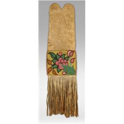Blackfeet Beaded Pipe Bag, 19th century