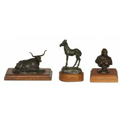 Robert M. Scriver, three bronzes