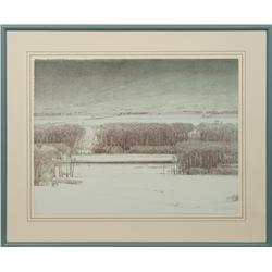 Russell Chatham, original stone lithograph