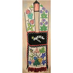 Chippewa Beaded Bandolier Bag, 19th century