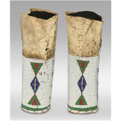 Sioux Woman's Quilled Leggings, 19th century