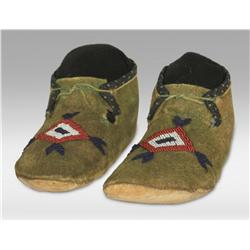 Brule Sioux Moccasins, circa 1870's