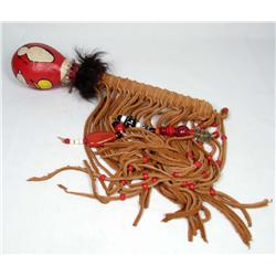 NATIVE AMERICAN INDIAN MEDICINE MAN RATTLE - Appro