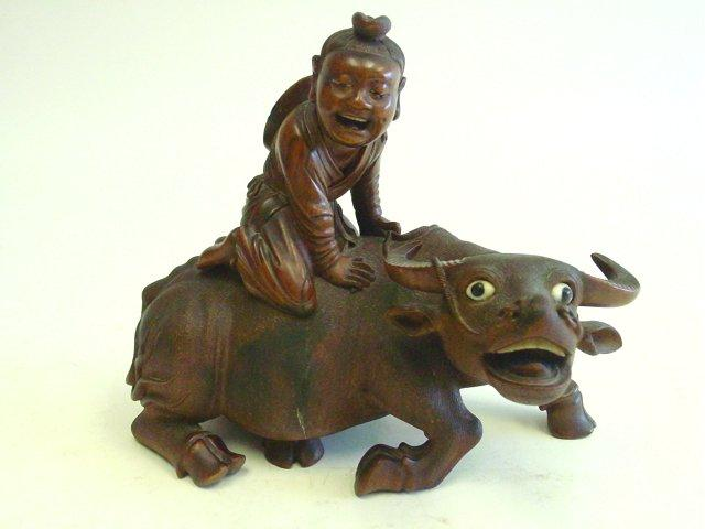 Carved chinese boxwood